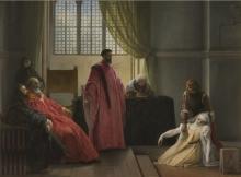 Francesco Hayez, Valenza Gradenigo davanti agli inquisitori [1842-1845 circa]