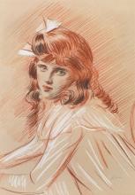 Paul-César Helleu, Ritratto di Ellen con il nastro bianco | Portrait d'Ellen au ruban blanc