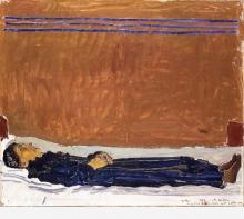 Hodler, Augustine Dupin sul letto di morte | Die tote Augustine Dupin auf dem Sterbebett