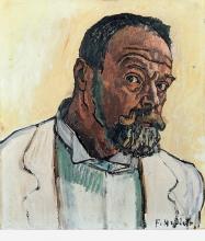 Hodler, Autoritratto in camice da pittore | Selbstbildnis im Malerkittel