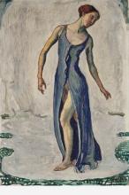 Hodler, Donna che si gira mentre cammina | Schreitende Frau, sich umdrehend