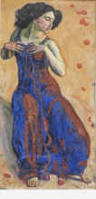 Hodler, Donna estasiata | Entzücktes Weib | Ecstatic woman