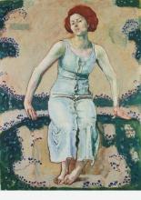 Hodler, Giovane donna seduta in giardino | Sitzende junge Frau im Garten