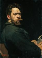 Hodler, Il furioso (Autoritratto) | Der Zornige (Selbstbildnis) | The angry (Self-portrait)