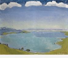 Hodler, Il lago di Ginevra da Caux   Genfersee von Caux aus
