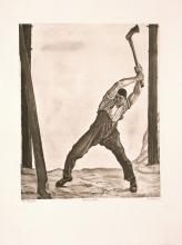 Hodler, Il taglialegna | Der Holzfäller | The woodcutter | Le bûcheron