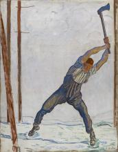Hodler, Il taglialegna   Der Holzfäller   The woodcutter   Le bûcheron