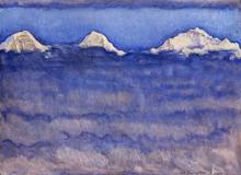 Hodler, L'Eiger, il Moench e la Jungfrau sopra il mare di nebbia.jpg