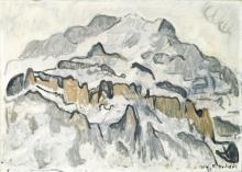 Hodler, La Jungfrau in inverno | Jungfrau im Winter