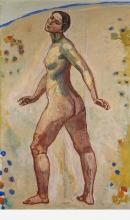 Hodler, Nudo femminile che cammina | Schreitender weiblicher Akt
