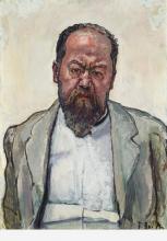 Hodler, Ritratto di Matthias Morhardt, mezza figura | Bildnis Matthias Morhardt, Halbfigur