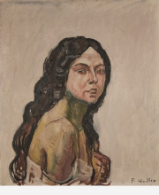 Hodler, Ritratto di lina, mezzo busto | Bildnis Lina, Bruststück