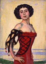 Hodler, Ritratto di una sconosciuta (Ballerina spagnola)   Bildnis einer Unbekannten (Spanische Tänzerin)