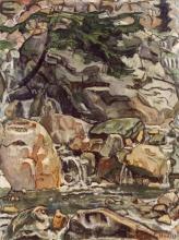 Hodler, Ruscello di montagna vicino a Beatenberg | Bergbach bei Beatenberg | Mountain stream near Beatenberg
