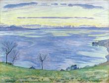 Hodler, Sera sul lago di Ginevra   Abend am Genfersee   Soir sur le Lac Léman   Evenening on the Lake Geneva