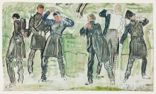 Hodler, Studio di studenti che indossano le uniformi | Study of students putting on uniforms