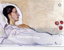 Hodler, Valentine Godé-Darel nel letto d'ammalata | Valentine Godé-Darel im Krankenbett