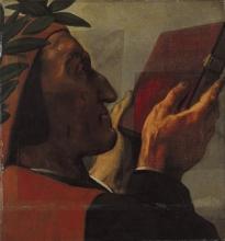Ingres, Dante presenta la Divina Commedia a Omero | Dante presents the Divine Comedy to Homer | Dante overrækker Den guddommelige komedie til Homer