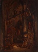 Isabey, Interno di chiesa (Cattedrale di Burgos) | Intérieur d'église (Cathédrale de Burgos) | Interior de Iglesia (Catedral de Burgos) | Interior of church (Cathedral of Burgos)
