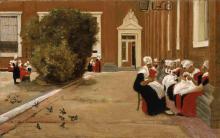 Liebermann, Cortile dell'orfanotrofio ad Amsterdam.png