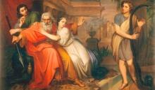 Lega, David che calma i furori di Saul con l'arpa.jpg