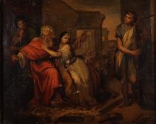 Lega, David che placa col suono dell'arpa le smanie di Saul travagliato dallo spirito malo