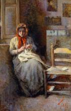 Lega, Donna del Gabbro che lavora la calza.png