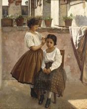Lega, Due ragazze su un balcone.jpg