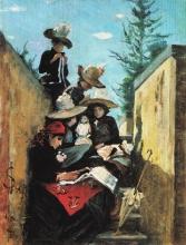 Lega, La signora Clementina Bandini con le figlie a Poggiopiano.jpg