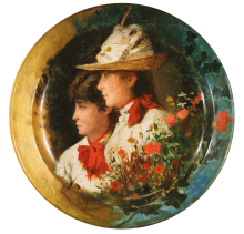 Silvestro Lega, Le sorelle (Piatto Riccomanni)