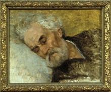 Lega, Studio di testa per 'Gli ultimi momenti di Giuseppe Mazzini' [cornice].jpg