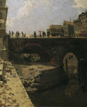 Lépine, Ponte in una città francese | Brücke in einer französischen Stadt | Pont dans une ville française | Bridge in a french city