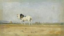 Lepine, Un cavallo da aratro nel campo.jpg