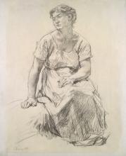 Lhermitte, Contadina seduta   Paysanne assise   Seated peasant woman