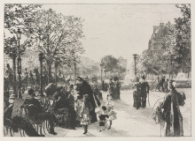 Lhermitte, Giardini delle Tuileries | Jardin des Tuileries | Tuileries gardens