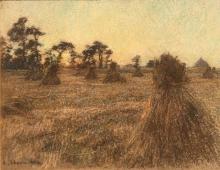 Léon Augustin Lhermitte, I covoni, Les meules | The haystacks