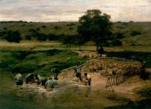 Lhermitte, Il lavaggio delle pecore | Le lavage des moutons | The washing of sheep
