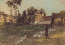 Lhermitte, Il ritorno delle oche | Le retour des oies | The return of the geese