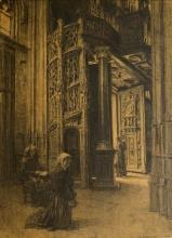Lhermitte, Interno, Saint Maclou, Rouen | Intérieur, Saint-Maclou, Rouen | Interior, St Maclou, Rouen