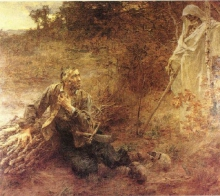 Lhermitte, La morte e il taglialegna | La mort et le bûcheron | Death and the woodcutter