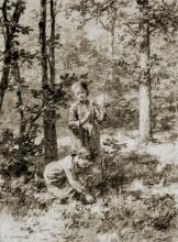 Lhermitte, La raccolta dei mughetti | La cueillette du muguet | Picking lilies of the valley