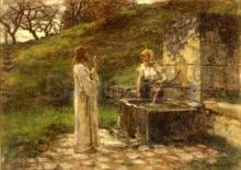 Lhermitte, La samaritana alla fontana   La Samaritaine à la fontaine   The Samaritan at the well