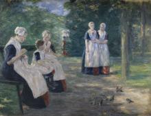 Max Liebermann, Il giardino dell'orfanotrofio comunale della città di Amsterdam