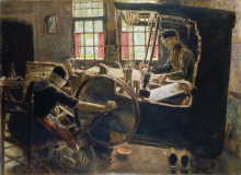Liebermann, Il tessitore | Der Weber | The weaver