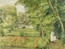 Liebermann, La nipote dell'artista con la sua balia nel giardino del Wannsee