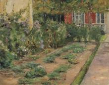 Max Liebermann, Piante di fiori presso il cottage del giardiniere a nord-est | Blumenstanden am Gärtnerhäuschen nach Nordosten