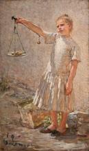 Emilio Longoni, La venditrice di frutta