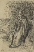 MIllet, Una pastorella | Une bergère | A shepherdess