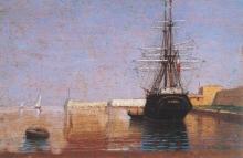 Manaresi, Veliero in porto a Livorno.jpg