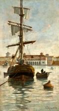 Manaresi, Veliero nel porto mediceo.jpg